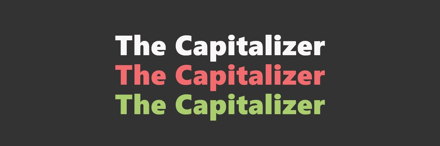 The Capitalizer