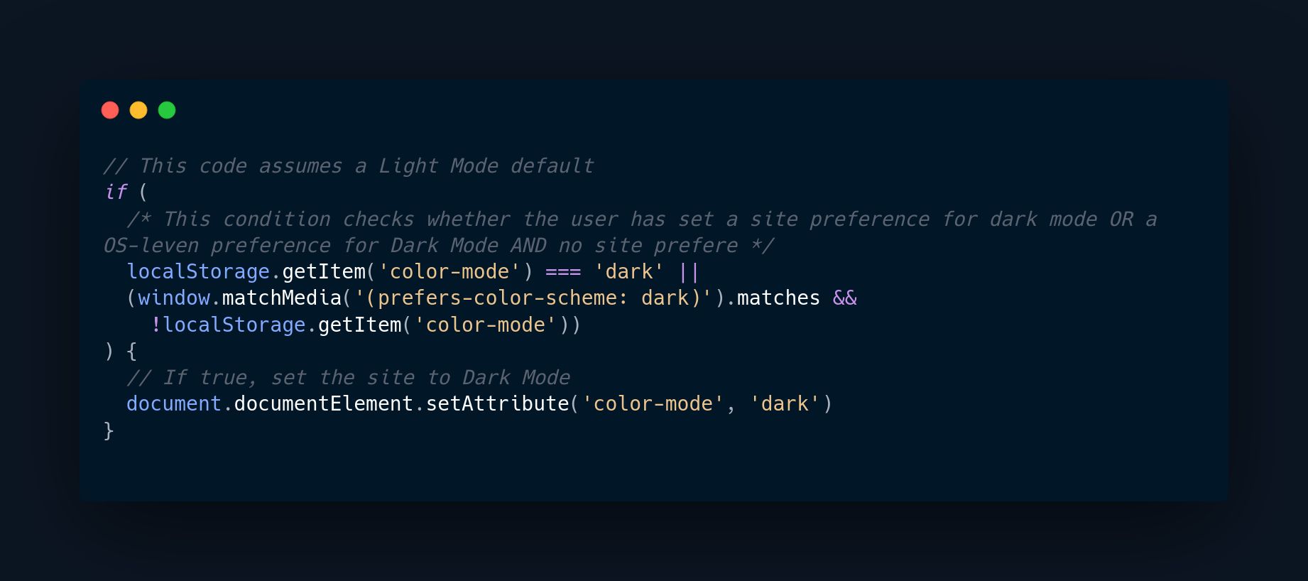 Ensure that OS-level or site color-mode preferences are respected
